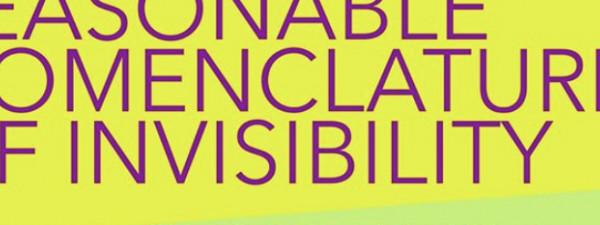 Reasonable Nomenclatures of Invisibility at ParisTexas LA